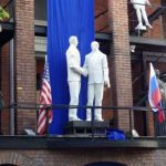 Unveiling the Reagan-Gorbachev Statue in Moscow