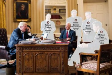 The chaos of the Trump administration, in one picture