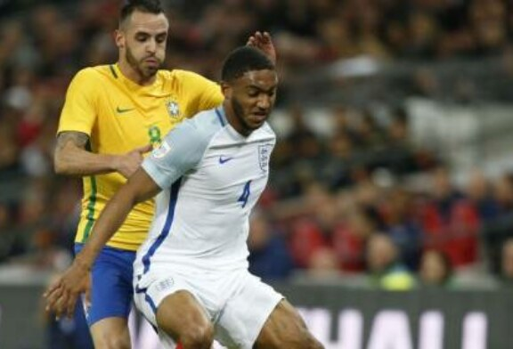 Joe Gomez is an unlikely star as England hold Brazil at Wembley