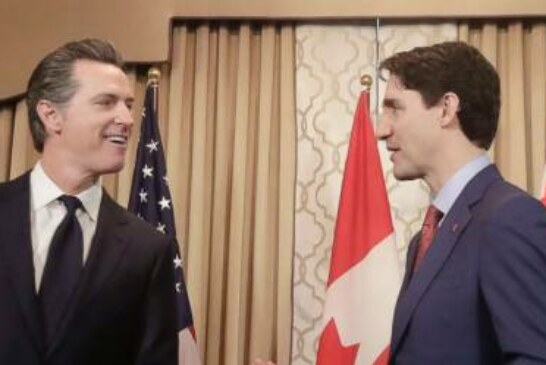 The Latest: Trudeau meets with California's top leaders