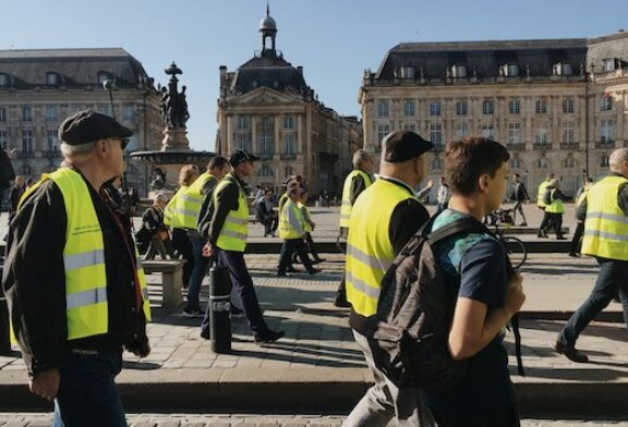 The Bright Yellow Line Over Globalization in France