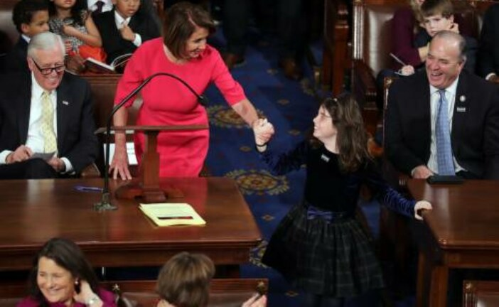 Nancy Pelosi's first speech as House speaker celebrated women's accomplishments