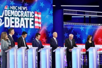 Donald Trump loomed large over the second night of the Democratic debates