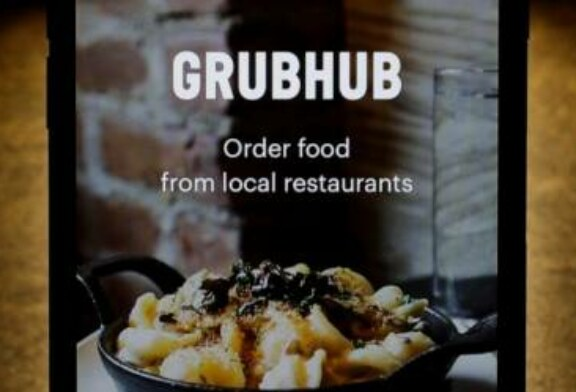Grubhub's stock plunges as food delivery competition grows